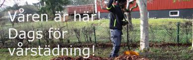 Ecotime erbjuder vårstädning av din trädgård.